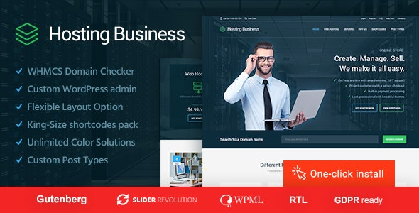 Hosting Business  - Software and Technology WordPress Theme - Hosting Technology