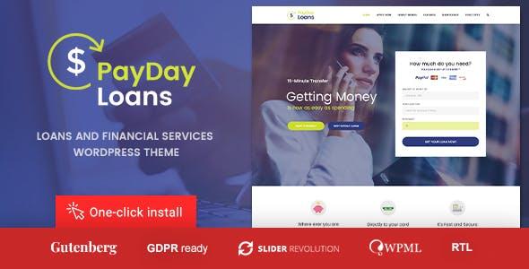 Payday Loans - Banking,  Loan Business and Finance WordPress Theme