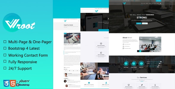 Wroot - Multipurpose Creative Website Template - Corporate Site Templates