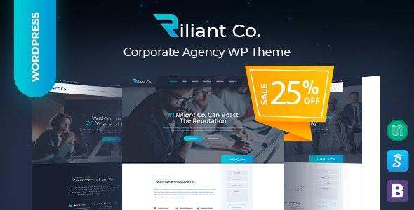 Riliant - Corporate Business Agency WordPress Theme - Corporate WordPress