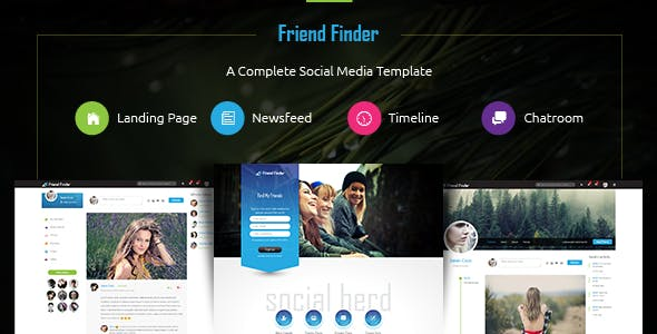 Friend Finder - Social Network HTML5 Template