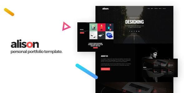 Alison - Portfolio HTML Template - Portfolio Creative