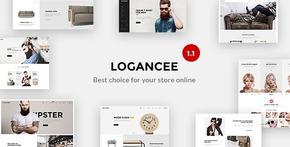 Logancee - Mutilpurpose eCommerce PSD Template