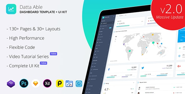 Datta Able Bootstrap Admin Template - Admin Templates Site Templates