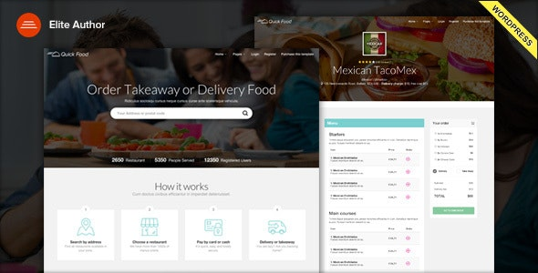 QuickFood - Delivery or Takeaway Food WordPress Theme by