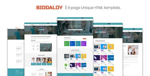 BIDDALOY - Training & Coaching HTML Template - Charity Nonprofit