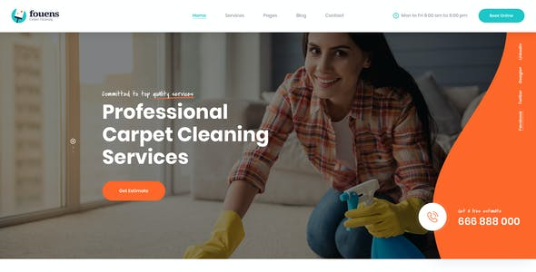 Carpet Cleaning Website Templates From Themeforest