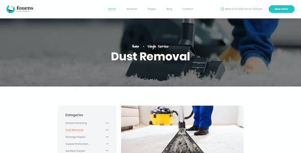 Fouens - Carpet Cleaning Company PSD Template