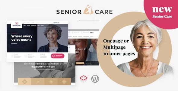 Senior | Health and Medical Care WordPress Theme - Health & Beauty Retail
