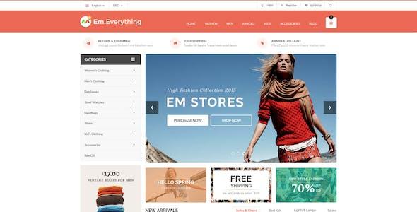 Creative minimalist fashion cosmetics Shopify store theme template