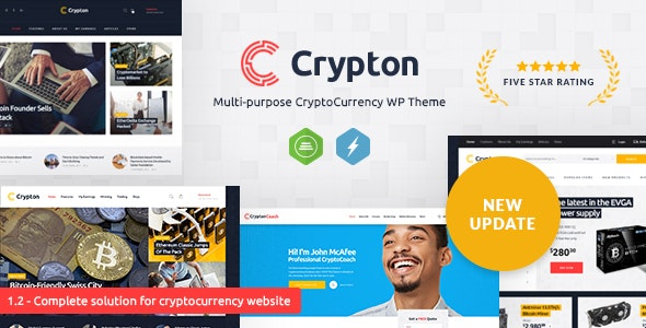 Crypton | A Multi-Purpose Cryptocurrency WordPress Theme - Technology WordPress