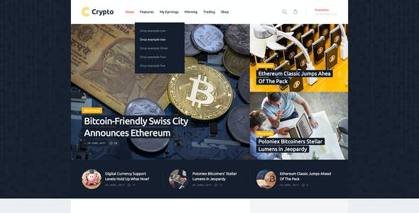 Cryptocurrency Exchange Templates from ThemeForest
