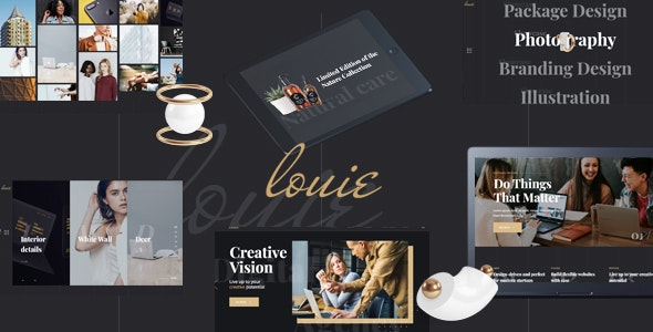 Louie - Modern Portfolio Theme for Agencies - Creative WordPress