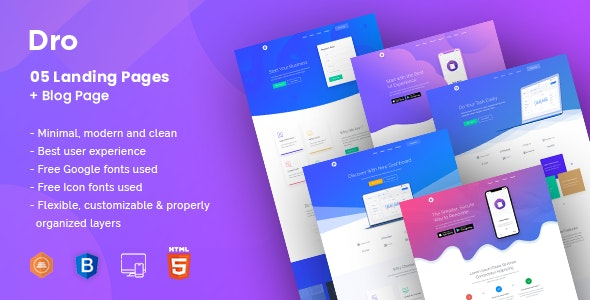 Dro - Saas HTML Template - Software Technology