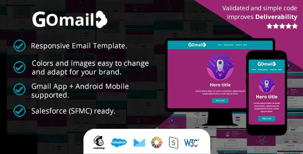 Responsive Email Template - Also in Gmail App (Android) - Salesforce (SFMC): Ready to Import - Email Templates Marketing