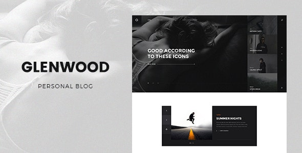 Glenwood - Personal Blog PSD Template - Personal Photoshop