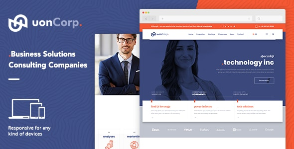 Uon Corp | Business Solutions Consulting Companies Theme - Corporate WordPress
