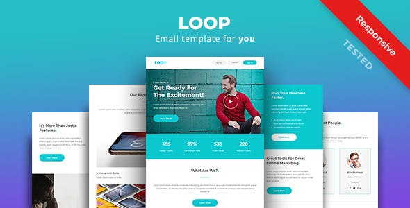 Loop Multipurpose Responsive Email Newsletter Template By Yemail