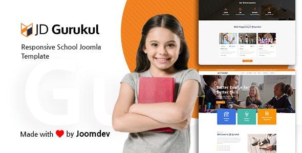 JD Gurukul - Responsive Joomla Template For School Websites