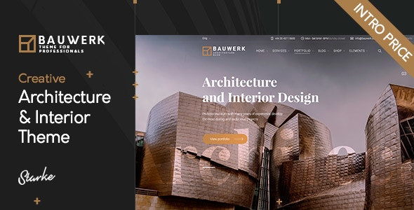 Bauwerk - Interior Design & Architecture WordPress Theme - Portfolio Creative