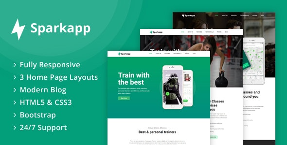 Sparkapp - App Landing Page - Software Technology