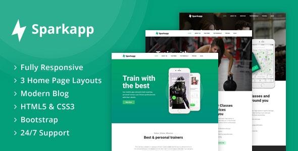 Sparkapp - App Landing Page - Software Technology