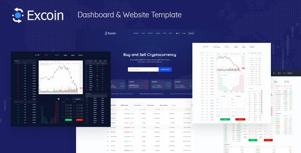 Excoin - Cryptocurrency Trading Dashboard Template - Technology Site Templates