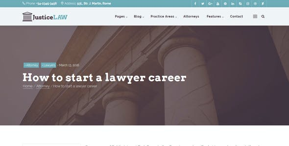 JusticeLAW - A Theme for Lawyers and Consultants