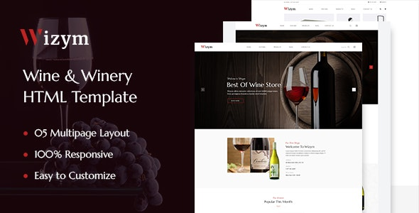 Wizym | Wine & Winery HTML Template - Food Retail