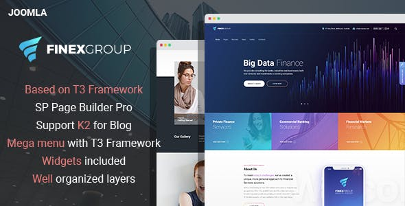 EximGroup - Finance and Business Joomla Template with Page Builder