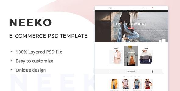 Neeko – E-commerce PSD Template - Fashion Retail