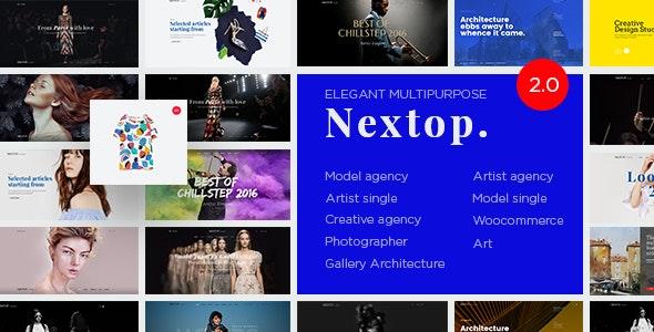 Nextop WordPress theme - Model Artist Talent Agency -  Photographer - Gallery - Creative Elegant - Creative WordPress
