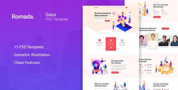Romada - Startup Agency SasS PSD Template - Software Technology