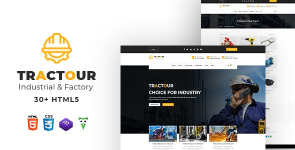 Tractour - Industrial/ Manufacturing HTML5 Template - Business Corporate