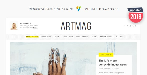 Artmag - Clean WordPress Blog and Magazine Theme - News / Editorial Blog / Magazine