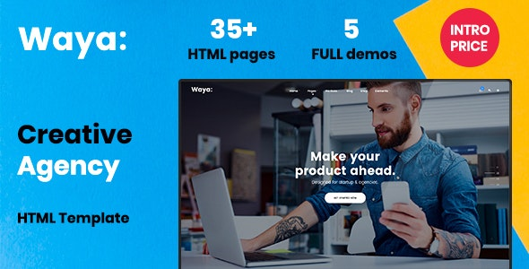 Waya - Multipurpose Creative HTML Template - Creative Site Templates