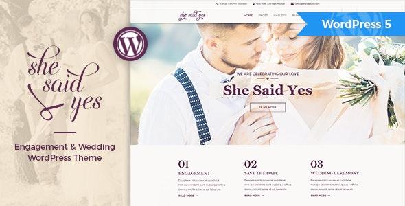 SheSaidYes - Engagement & Wedding WordPress Theme - Wedding WordPress