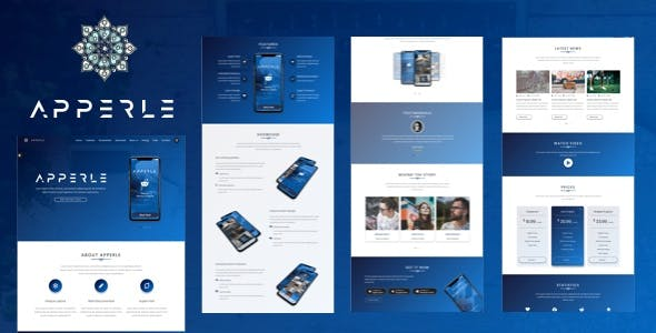 Apperle | Responsive App Landing Page HTML template