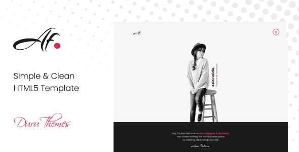 AF. - Simple & Clean HTML5 Template for Creatives - Portfolio Creative