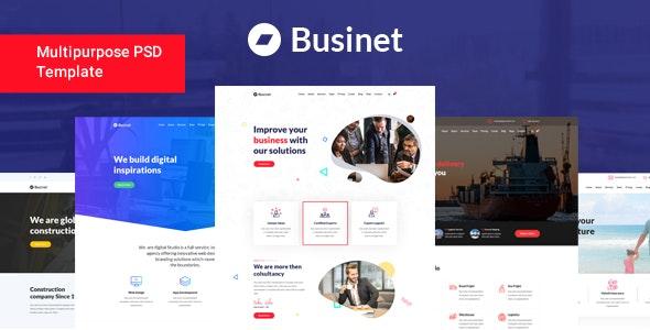 Businet - Multipurpose Business PSD Template - Business Corporate