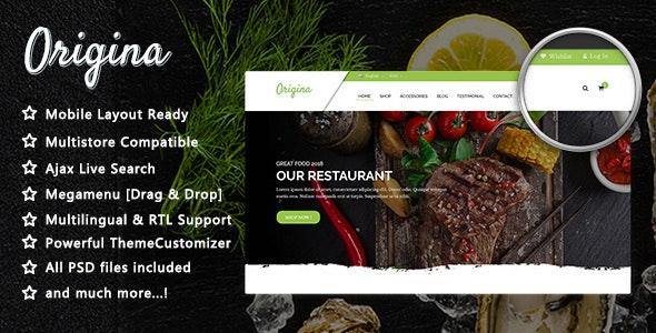 Origina - Organic Food and Restaurant PrestaShop 1.7 Theme - Health & Beauty PrestaShop