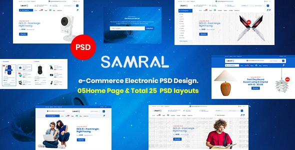 Samral - Electronics eCommerce PSD Template - Retail Photoshop