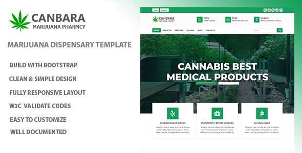 Canbara - Medical Marijuana  HTML Template