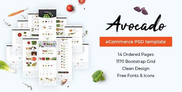 Avocado – eCommerce PSD Template - Food Retail