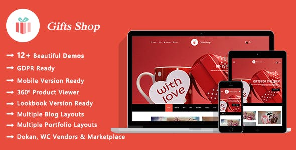 Gifts Shop - Gift and Souvenir WooCommerce WordPress Theme