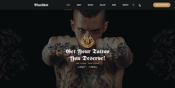 Blackdot - A PSD Template for Tattoo Studios and Tattoo Artists