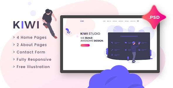 Kiwi - Creative One Page PSD Template - Creative Photoshop