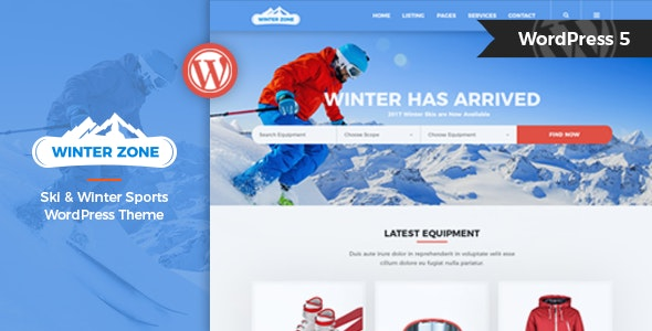 WinterZone – Ski & Winter Sports WordPress Theme - Business Corporate