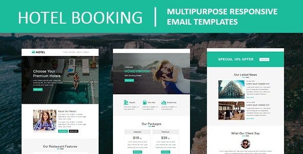 Hotel Booking - Multipurpose Responsive Email Template - Newsletters Email Templates