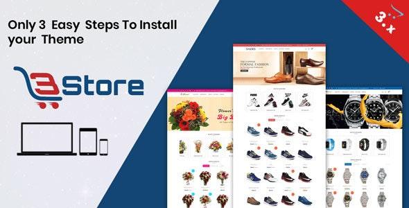 3store OpenCart 3.X Website Template(Watch,flower,shoes) - Shopping OpenCart